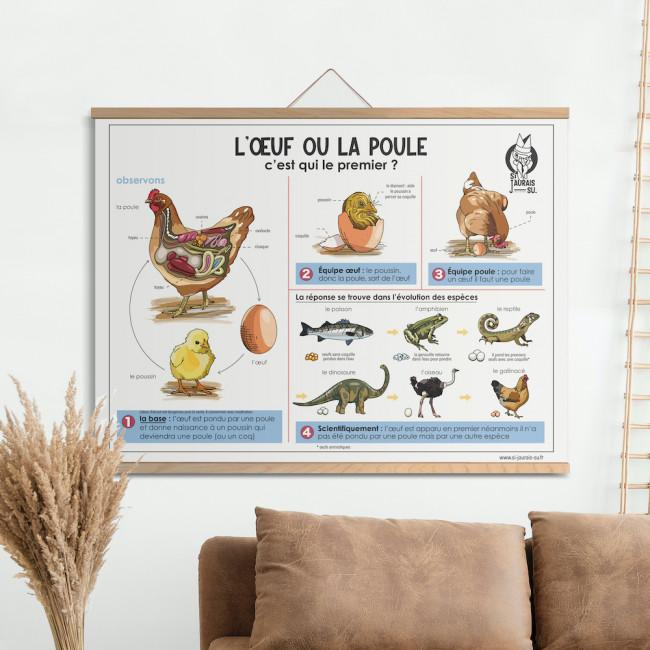Affiche - L'oeuf ou la poule ?